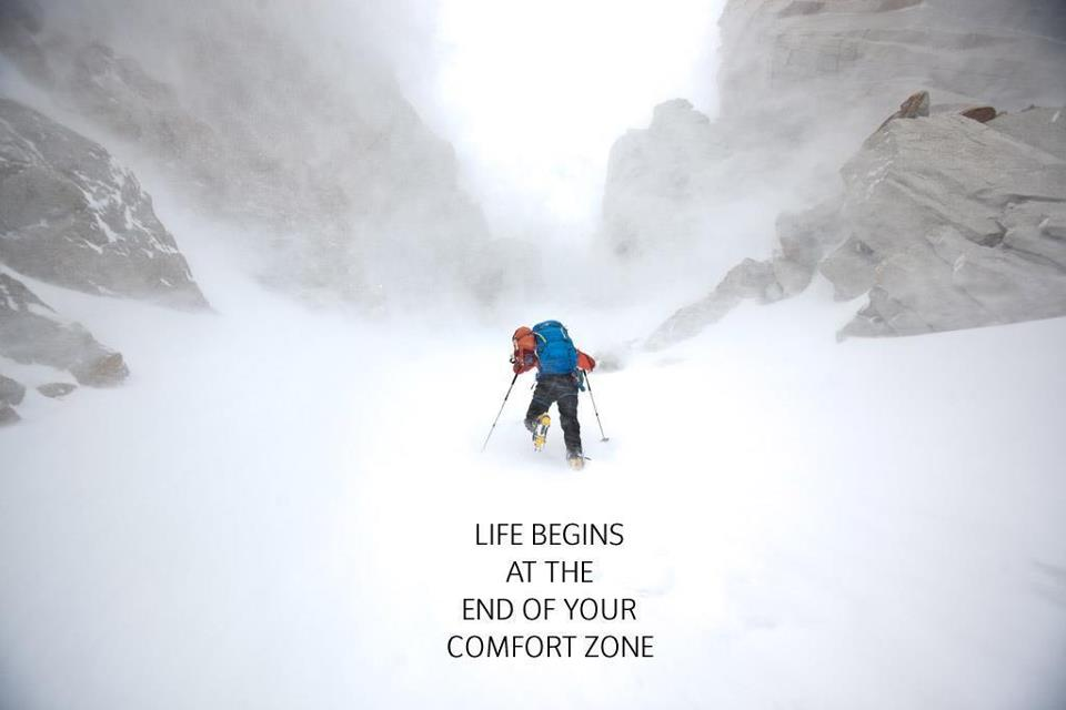 Life Begins Where Comfort Ends