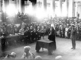Metropolitan Benjamin of St. Petersburg before the Petrograd Revolutionary Tribunal, June 1922