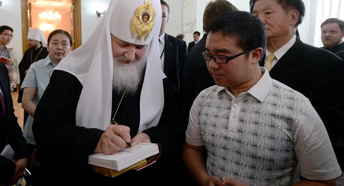 Chinese Orthodox visit Kirill