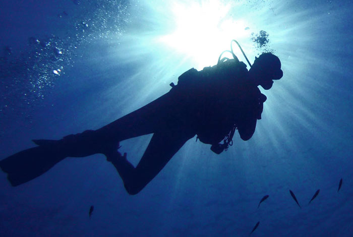 going to underwater church
