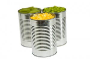 Three Cans of Vegetables