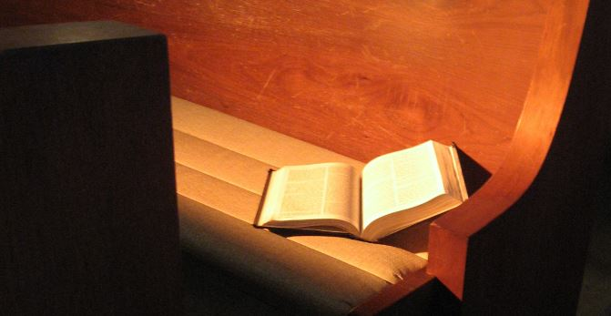 bible pew alone
